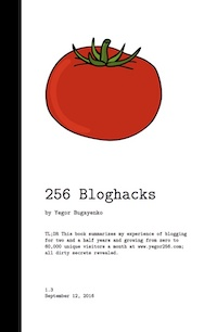 Book Cover of 256 Bloghacks