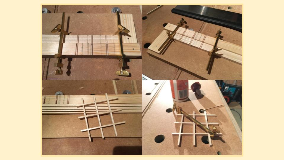 Making the Kumiko frame
