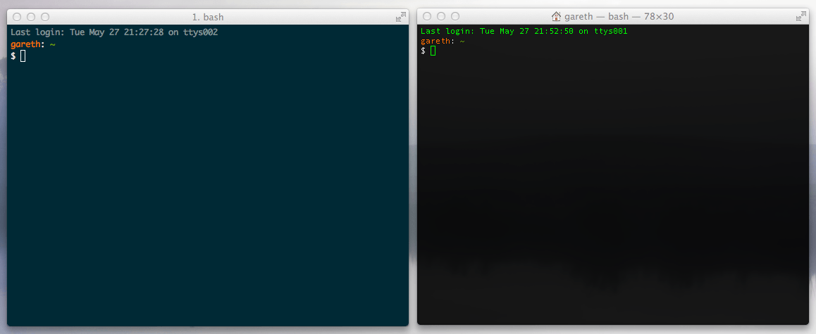 iTerm2 and Bash: Terminal Emulator Tools