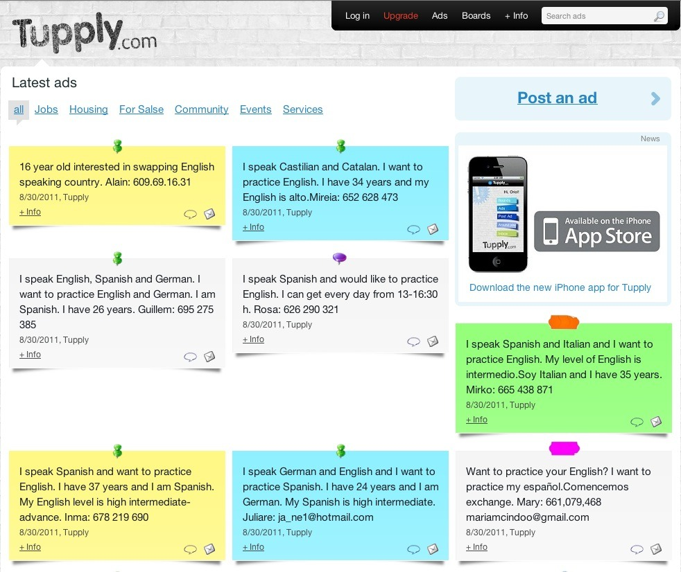 Screenshot of Tupply